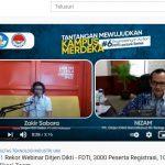 Video : Rekor Webinar Dirjen Dikti & FDTI, 3000 Peserta Registrasi, 1000 Peserta di Aplikasi Zoom!